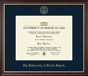 The University of Rhode Island Diploma Frame - Gold Embossed Diploma Frame in Studio Gold