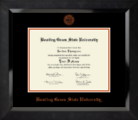 Bowling Green State University Diploma Frame - Orange Embossed Diploma Frame in Eclipse