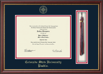 Colorado State University Pueblo Diploma Frame - Tassel Edition Diploma Frame in Newport