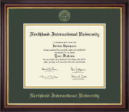 Northland International University Diploma Frame - Gold Embossed Diploma Frame in Regency Gold