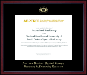 American Board of Physical Therapy Residency & Fellowship Education Certificate Frame - Gold Embossed Achievement Edition Certificate Frame in Academy
