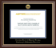 American Board of Physical Therapy Residency & Fellowship Education Certificate Frame - Gold Engraved Medallion Certificate Frame in Hampshire