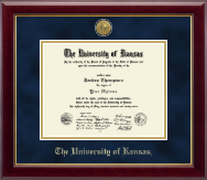The University of Kansas Diploma Frame - Gold Engraved Medallion Diploma Frame in Gallery