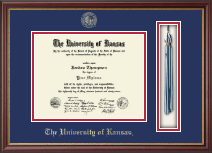 The University of Kansas Diploma Frame - Tassel Edition Diploma Frame in Newport