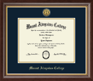 Mount Aloysius College Diploma Frame - Gold Engraved Medallion Diploma Frame in Hampshire
