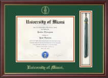 University of Miami Diploma Frame - Tassel Edition Diploma Frame in Newport