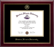 Western Illinois University Diploma Frame - Gold Embossed Diploma Frame in Gallery