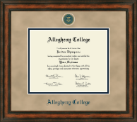 Allegheny College Diploma Frame - Heirloom Edition Diploma Frame in Ashford