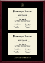 University of Hartford Diploma Frame - Double Diploma Frame in Galleria