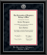 The University of Virginia's College at Wise Diploma Frame - Silver Engraved Medallion Diploma Frame in Onyx Silver
