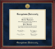 Georgetown University Diploma Frame - Gold Engraved Medallion Diploma Frame in Kensington Gold