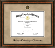 Michigan Technological University Diploma Frame - Heirloom Edition Diploma Frame in Ashford