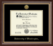 University of Washington Diploma Frame - Gold Engraved Medallion Diploma Frame in Hampshire