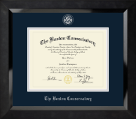 The Boston Conservatory Diploma Frame - Silver Embossed Diploma Frame in Eclipse