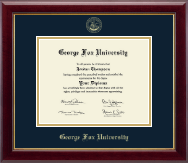George Fox University Diploma Frame - Gold Embossed Diploma Frame in Gallery