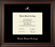 Black Hawk College Diploma Frame - Gold Embossed Diploma Frame in Studio