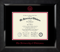 The University of Oklahoma Diploma Frame - Red Embossed Diploma Frame in Eclipse