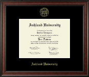 Ashland University Diploma Frame - Gold Embossed Diploma Frame in Studio
