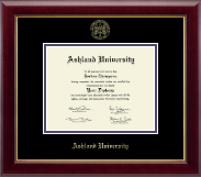 Ashland University Diploma Frame - Gold Embossed Diploma Frame in Gallery