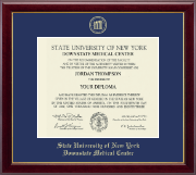 SUNY Downstate Medical Center Diploma Frame - Gold Embossed Diploma Frame in Gallery