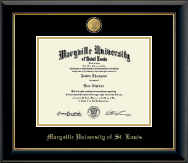 Maryville University of St. Louis Diploma Frame - 23K Medallion Diploma Frame in Onyx Gold