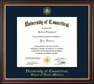 University of Connecticut Diploma Frame - Gold Embossed Diploma Frame in Studio Gold