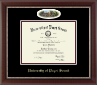 University of Puget Sound Diploma Frame - Campus Cameo Diploma Frame in Chateau