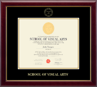 School of Visual Arts Diploma Frame - Gold Embossed Diploma Frame in Gallery