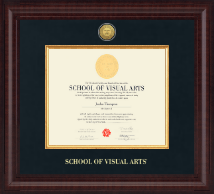School of Visual Arts Diploma Frame - Presidential Gold Engraved Diploma Frame in Premier