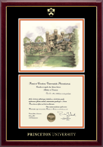 Princeton University Diploma Frame - Campus Scene Diploma Frame - Blair Arch in Gallery