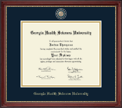 Georgia Health Sciences University Diploma Frame - Masterpiece Medallion Diploma Frame in Kensington Gold