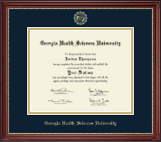 Georgia Health Sciences University Diploma Frame - Gold Embossed Diploma Frame in Kensington Gold
