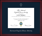National English Honor Society Certificate Frame - Silver Embossed Academy Edition Certificate Frame in Academy