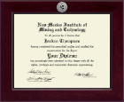 New Mexico Institute of Mining & Technology Diploma Frame - Century Silver Engraved Diploma Frame in Cordova