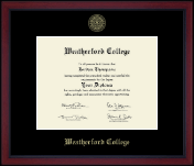 Weatherford College Diploma Frame - Gold Embossed Academy Edition Diploma Frame in Academy