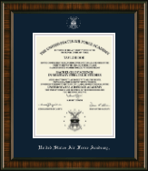 United States Air Force Academy Diploma Frame - Silver Embossed Diploma Frame in Brentwood
