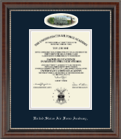 United States Air Force Academy Diploma Frame - Campus Cameo Diploma Frame in Chateau