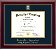 University of Connecticut Diploma Frame - Masterpiece Medallion Diploma Frame in Gallery