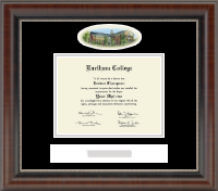 Earlham College Diploma Frame - Campus Cameo Diploma Frame in Chateau