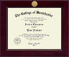 The College of Westchester Diploma Frame - Century Gold Engraved Diploma Frame in Cordova
