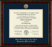 SUNY Downstate Medical Center Diploma Frame - Gold Engraved Medallion Diploma Frame in Ridgewood