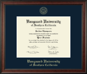 Vanguard University of Southern California Diploma Frame - Gold Embossed Diploma Frame in Studio