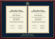 Hebrew Union College Diploma Frame - Double Diploma Frame in Galleria