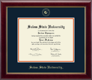 Salem State University Diploma Frame - Gold Embossed Diploma Frame in Gallery