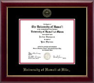 University of Hawaii at Hilo Diploma Frame - Gold Embossed Diploma Frame in Gallery