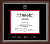 University of Hawaii at Hilo Diploma Frame - Silver Embossed Diploma Frame in Devonshire