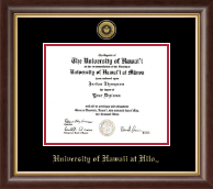 University of Hawaii at Hilo Diploma Frame - Gold Engraved Medallion Diploma Frame in Hampshire