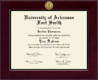 University of Arkansas - Fort Smith Diploma Frame - Century Gold Engraved Diploma Frame in Cordova