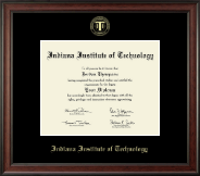 Indiana Institute of Technology Diploma Frame - Gold Embossed Diploma Frame in Studio