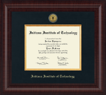 Indiana Institute of Technology Diploma Frame - Presidential Gold Engraved Diploma Frame in Premier